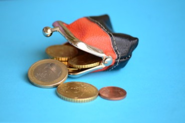 42786749 - purse and coins