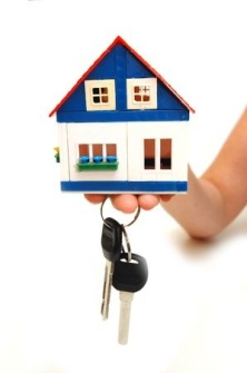 5054658 - concept image of a hand holding house keys