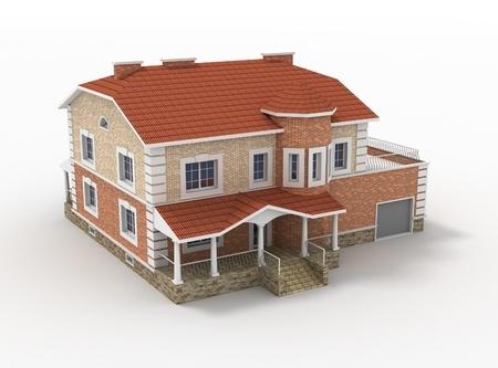 11034116 - 3d model render of living house